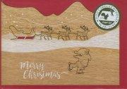 #619 木製ポップアップカード(サンタクロース)<br />封筒付きの商品画像
