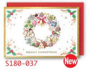 【DAG掲載/取り寄せ】クリスマスミニカード S180-037の商品画像