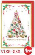 【DAG掲載/取り寄せ】クリスマスミニカード S180-038の商品画像