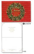 【Olives掲載/取り寄せ】クリスマスカード(封筒付き)A リース 59910の商品画像