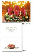【Olives掲載/取り寄せ】クリスマスカード(封筒付き)C 4本の赤いキャンドル 59912の商品画像