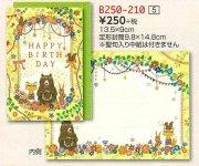 【DAG掲載/取り寄せ】バースデイカード  B250-210の商品画像