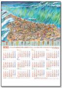 【DAG掲載/取り寄せ】2021ホームカレンダー 「紅海を渡るモーセとイスラエルの民」 5枚セット 59845の商品画像