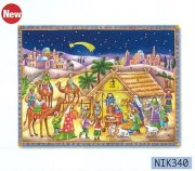 【DAG掲載/取り寄せ】アドベントカレンダー降誕(エルサレム) NIK340の商品画像
