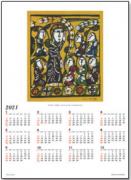 【DAG掲載/取り寄せ】渡辺禎雄版画カレンダー 2021Cの商品画像