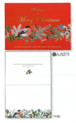 【Olives掲載/取り寄せ】クリスマスカード(封筒付き)G ムネアカドリ 59916の商品画像