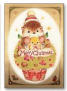【DAG掲載/取り寄せ】クリスマスカード クマ CRK-12の商品画像