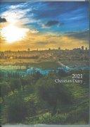 2021年版 B6判クリスチャンダイアリー(表紙:エルサレムの夜明け いのちのことば社)59881の商品画像