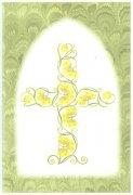 山崎美枝子 洗礼用メッセージカード/黄色い花とつるの十字架 聖句入りの商品画像