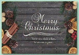 【DAG掲載】クリスマスカード オレンジ・シナモン NL007の商品画像