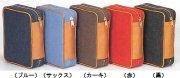 D1290R<br>中型判デニム生地聖書カバー</br><赤:�>の商品画像
