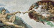 �アダムの創造<br>アートバイブル額装絵画シリーズの商品画像