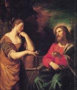 23 サマリアの女とキリスト<br>アートバイブル額装絵画シリーズの商品画像