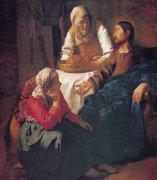 27 マルタとマリアの家のキリスト<br>アートバイブル額装絵画シリーズの商品画像