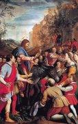 31 キリストのエルサレム入場<br>アートバイブル額装絵画シリーズの商品画像