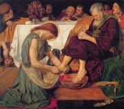 32 弟子の足を洗うキリスト<br>アートバイブル額装絵画シリーズの商品画像