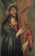 35 十字架を担うキリスト<br>アートバイブル額装絵画シリーズの商品画像