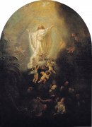 38 天に昇るキリスト<br>アートバイブル額装絵画シリーズの商品画像