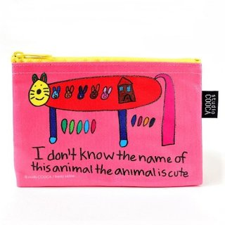 ミニポーチ justine ikeda/I don't know the name of this animal is cute