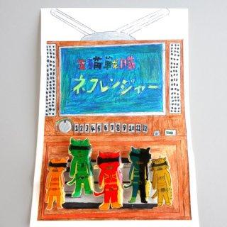 五猫戦隊猫レンジャーバッジ/murata yoshihiro