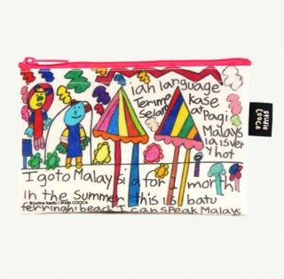 ミニポーチ justine ikeda/I go to Malaysia