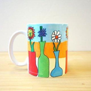 マグカップ takao mizuno/花びんの花