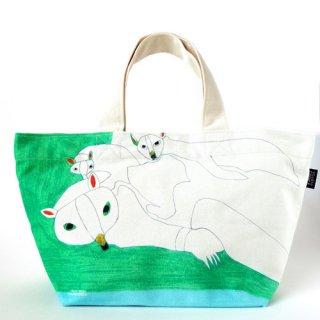 ミニトートバッグ takao mizuno/流氷の上でねている二匹のホッキョクグマ