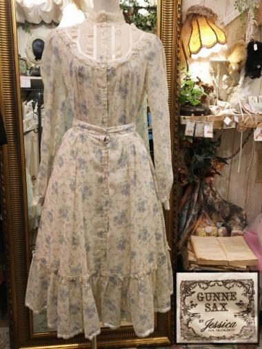 GUNNE SAX 70's 花柄セットアップ ブラウス&スカート Size:約7
