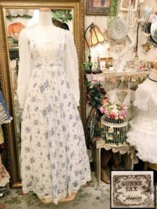 Vintage U.S.A. GUNNE SAX 70s 花束柄ロングワンピース Size:7
