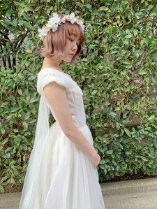 ビンテージ エンジェルホワイトドレス size:約S~M