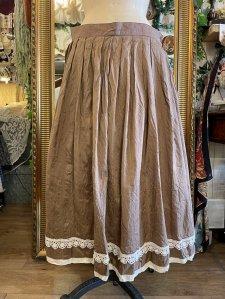 ビンテージ フラワーモチーフレースシルクスカート size:42