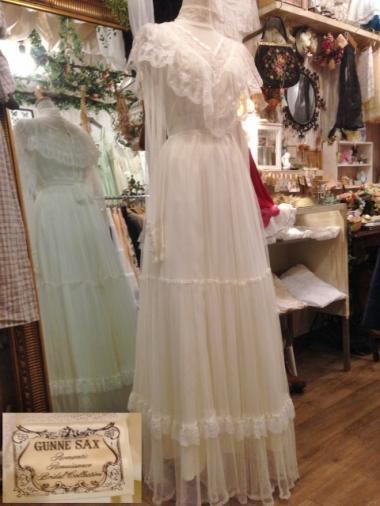 GUNNE SAX ブライダルタグ 70sウェディングワンピースドレス