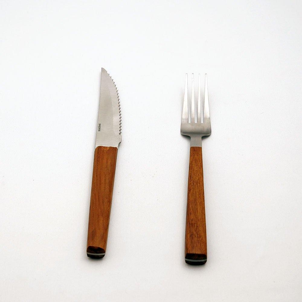手に優しく馴染む Nordic ステーキ カトラリー