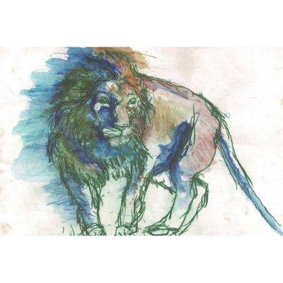 ポストカード<br>「ライオン」