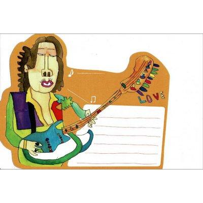ポストカード<br>「ギターをひいてる人」