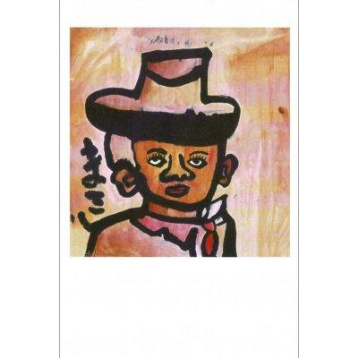 ポストカード<br>「帽子の人」