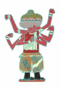 ポストカード<br>「アシュラ—の絵」