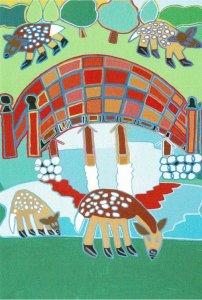 ポストカード<br>「大乗院庭園の絵」