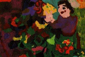 ポストカード 花を飾りましょう