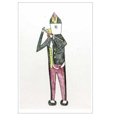 ポストカード<br>「笛を吹く少年」