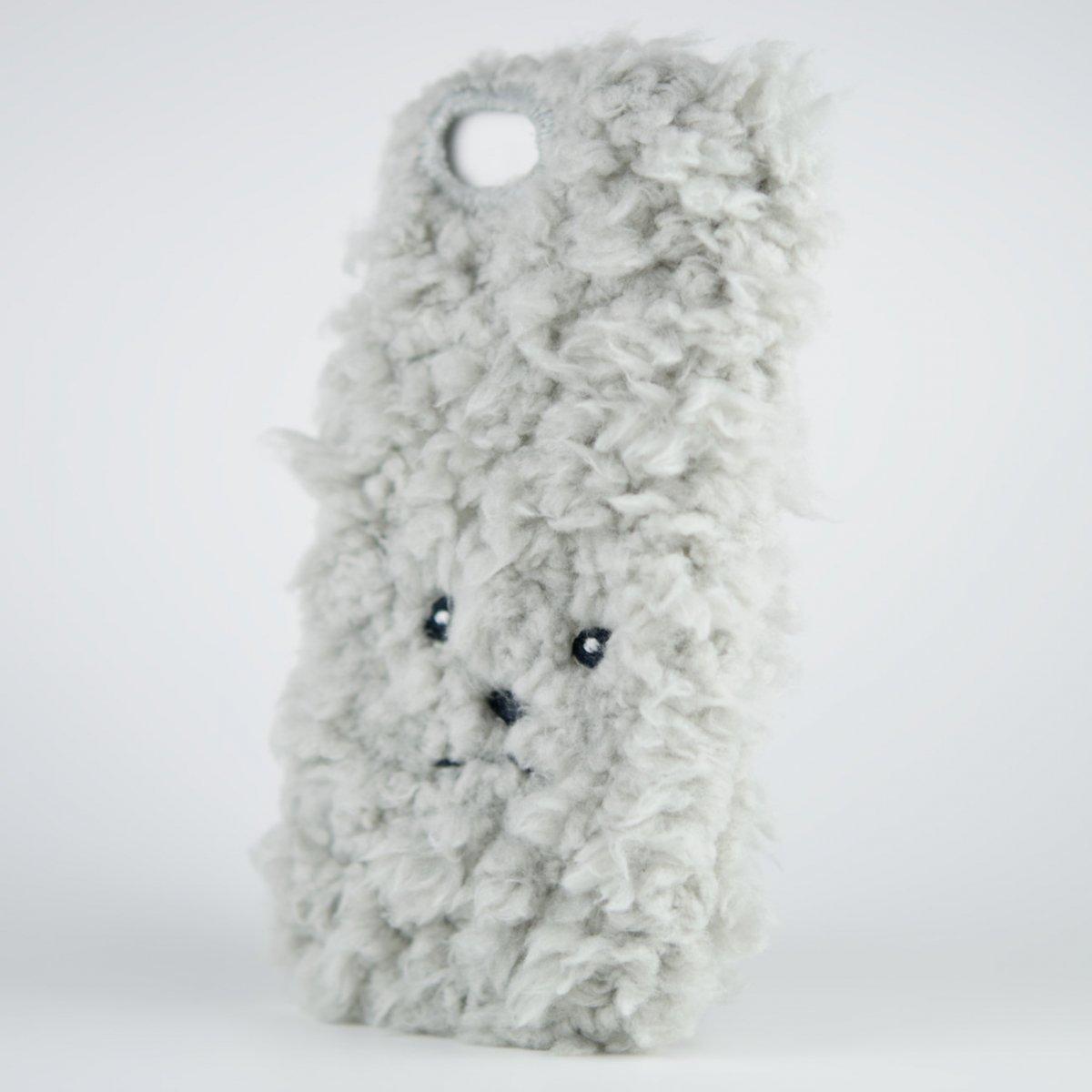 【iPhone5用スマホケース】イヌ・トイプードルiPhoneカバー[グレー]