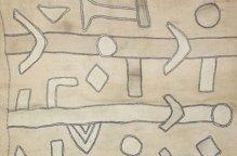 クバ族 抽象的なパッチワークのある布