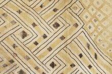 クバ族 幾何学パターンの布