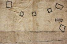 クバ族 余白と記号の布
