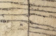 ムブティ族 手書き文様の木皮布「タパ」