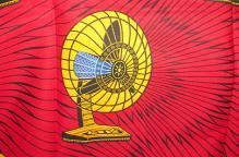 アフリカ コットン生地「扇風機」(新品)