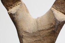 ドゴン族 白っぽい木肌のミニハシゴ(台付)