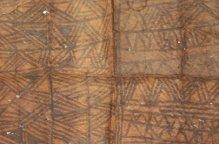 ムブティ族 幾何学ラインの入ったタパ布
