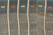 バウレ族 インディゴとストライプの古布
