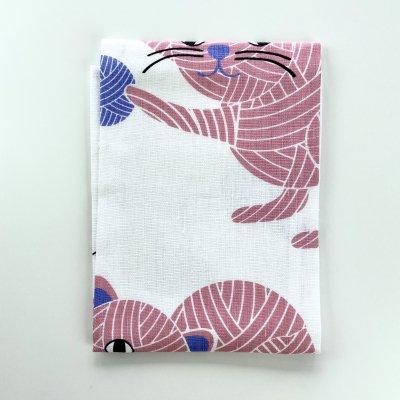 たまねこ /キッチンクロス(ピンク)